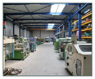 The hall in Swifterbant with storage of packaging machinery.