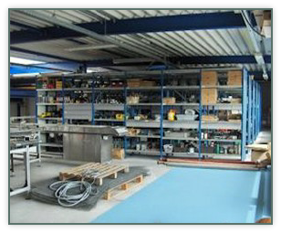 Spare part storage in Swifterbant.